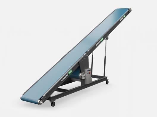 Ленточный конвейер с изменяемым углом для погрузки-разгрузки автомашин