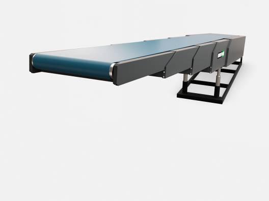 Конвейер ленточный телескопический с изменяемым углом