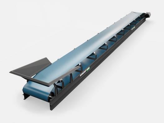 Желобчатый конвейер для промышленных сыпучих грузов