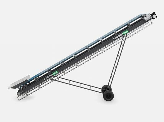 Желобчатый передвижной конвейер для сыпучих грузов