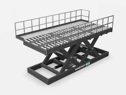 Подъемные столы для авиаконтейнеров