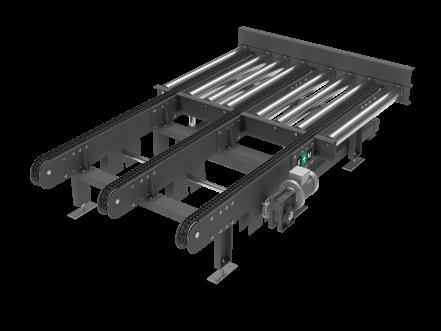 Отводящий цепной модуль для рольганга
