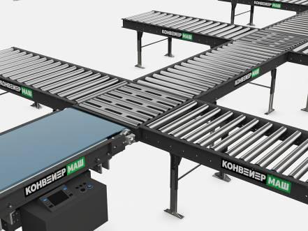 Сортировочный конвейер с подъемной секцией