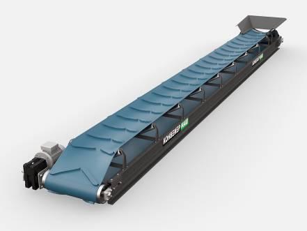 Желобчатый конвейер для сыпучих грузов